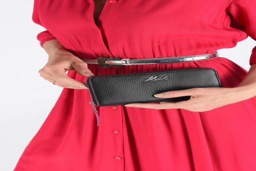 Kleine lederwaren Karl Lagerfeld k/karry all zip around wallet Zwart onder