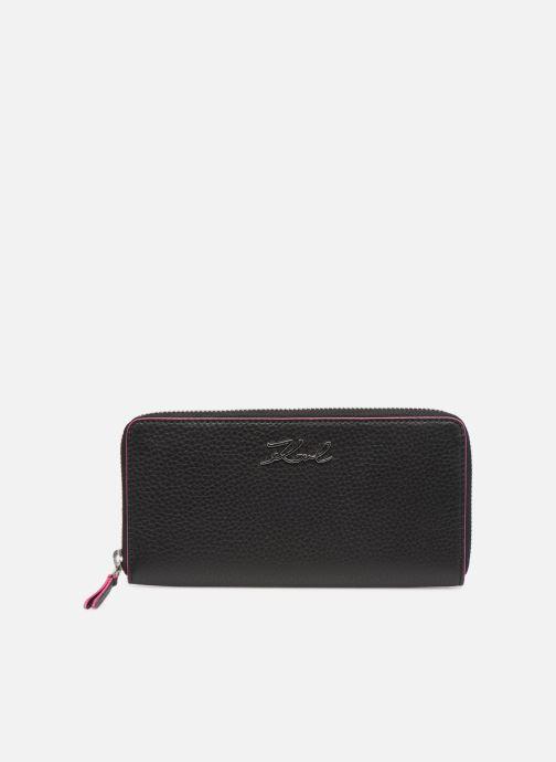 Petite Maroquinerie KARL LAGERFELD k/karry all zip around wallet Noir vue détail/paire