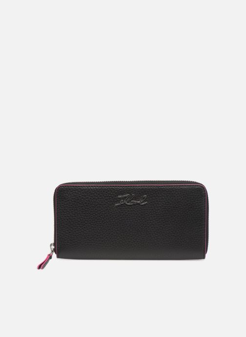 Kleine lederwaren Karl Lagerfeld k/karry all zip around wallet Zwart detail