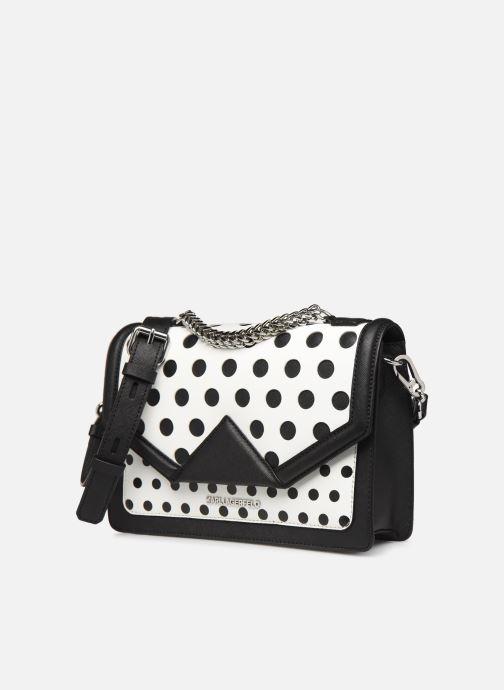 Sacs à main Karl Lagerfeld k/klassik special dots sb Blanc vue portées chaussures