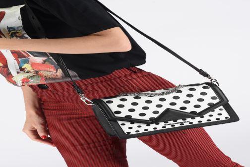 Sacs à main Karl Lagerfeld k/klassik special dots sb Blanc vue bas / vue portée sac