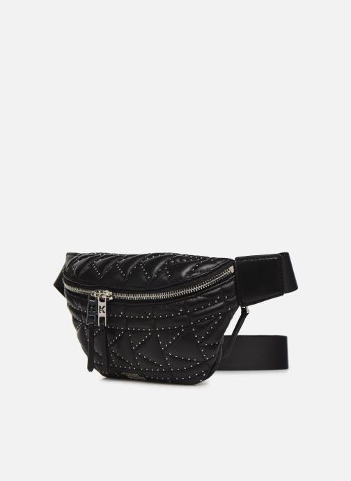Petite Maroquinerie KARL LAGERFELD k/kuilted studs bumbag Noir vue portées chaussures