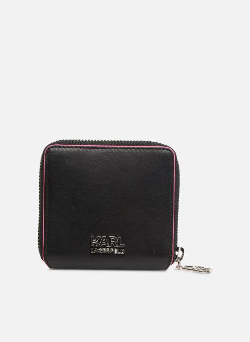 Kleine lederwaren KARL LAGERFELD k/neon small wallet Zwart voorkant