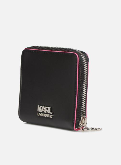 Petite Maroquinerie KARL LAGERFELD k/neon small wallet Noir vue droite