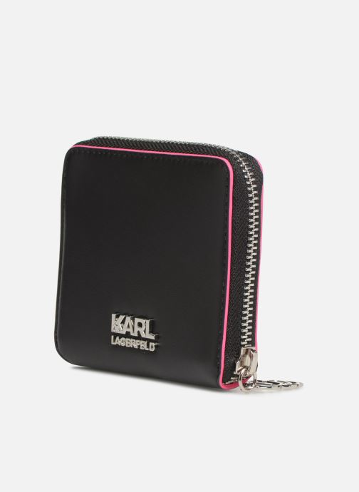Kleine lederwaren KARL LAGERFELD k/neon small wallet Zwart rechts