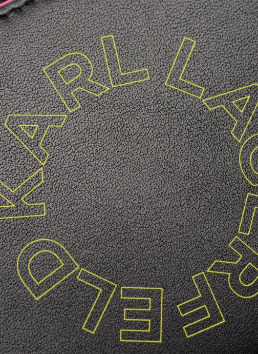 Kleine lederwaren KARL LAGERFELD k/neon small wallet Zwart links