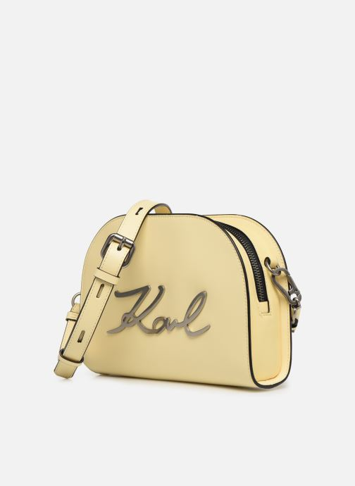 Bolsos de mano Karl Lagerfeld k/signature big crossb (tacco) Amarillo vista del modelo