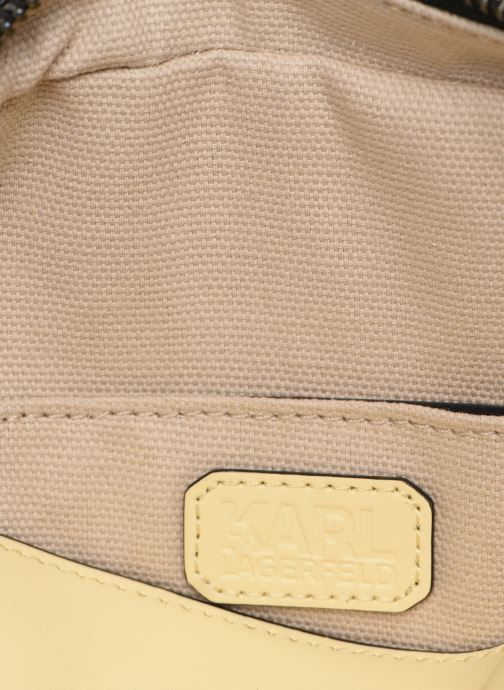 Bolsos de mano KARL LAGERFELD k/signature big crossb (tacco) Amarillo vistra trasera