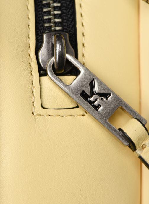Bolsos de mano Karl Lagerfeld k/signature big crossb (tacco) Amarillo vista lateral izquierda