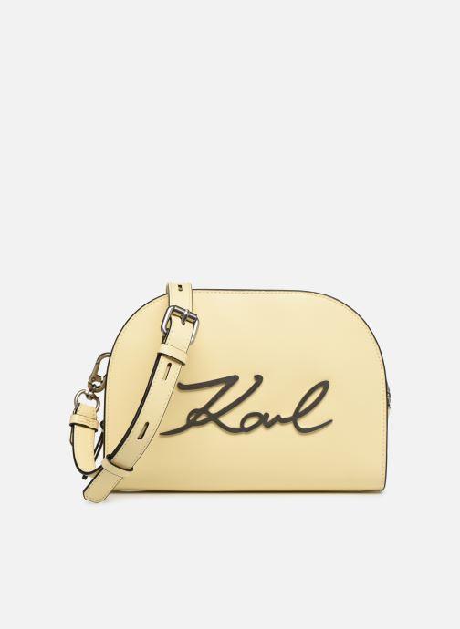 Bolsos de mano Karl Lagerfeld k/signature big crossb (tacco) Amarillo vista de detalle / par
