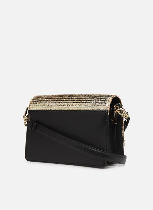 Bolsos de mano Karl Lagerfeld k/signature raffia shoulderbag Oro y bronce vista lateral derecha