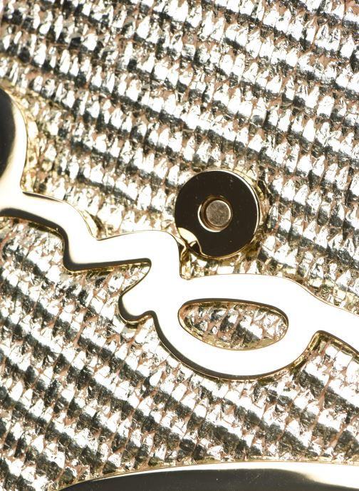 Handtassen Karl Lagerfeld k/signature raffia shoulderbag Goud en brons links