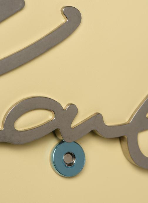 Handtassen Karl Lagerfeld k/signature shoulderbag Geel links
