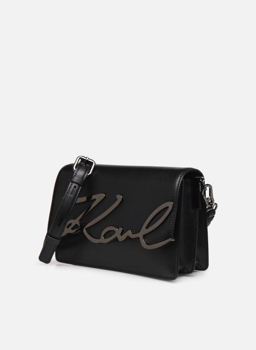 Bolsos de mano KARL LAGERFELD k/signature shoulderbag Negro vista del modelo