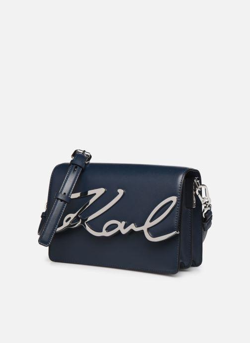Sacs à main Karl Lagerfeld k/signature shoulderbag Bleu vue portées chaussures