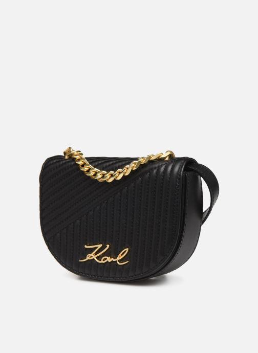 Sacs à main Karl Lagerfeld k/signature quilted bumbag Noir vue portées chaussures