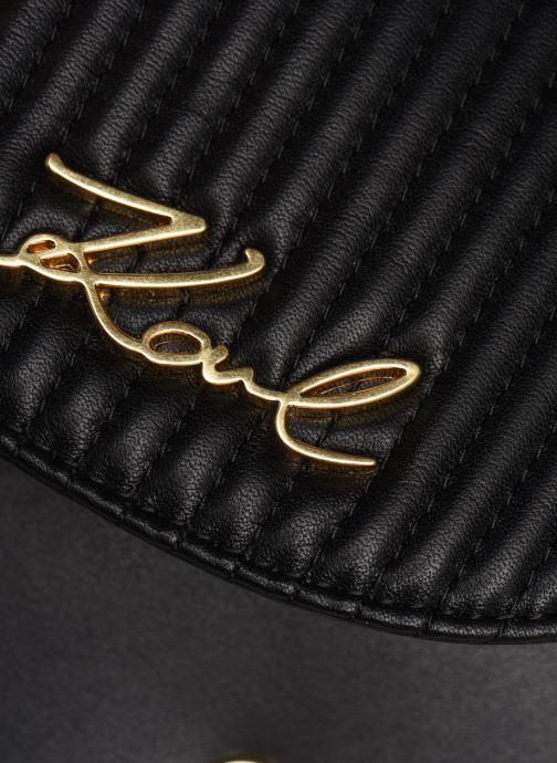 Bolsos de mano Karl Lagerfeld k/signature quilted bumbag Negro vista lateral izquierda