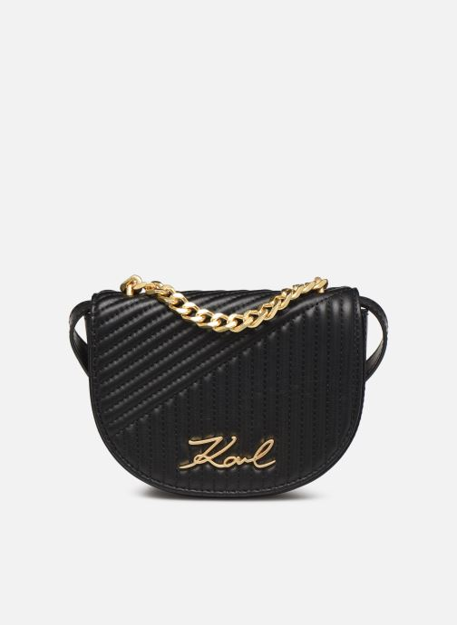 Bolsos de mano Karl Lagerfeld k/signature quilted bumbag Negro vista de detalle / par