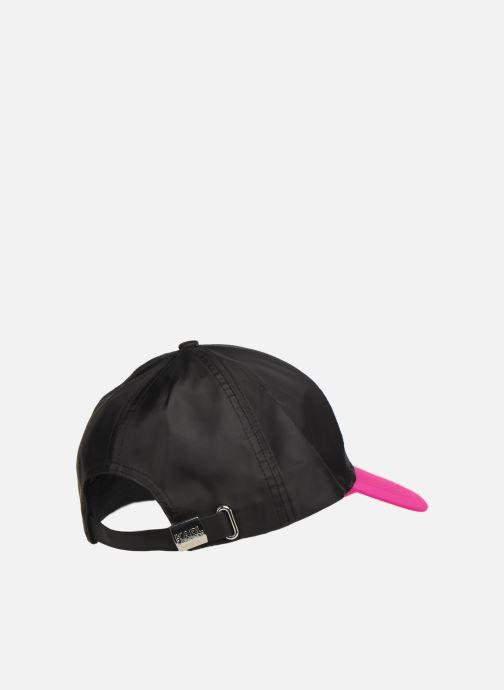 Kappe KARL LAGERFELD k/neon cap rosa schuhe getragen