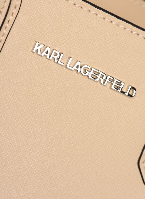 Sacs à main KARL LAGERFELD k/klassik tote Rose vue gauche