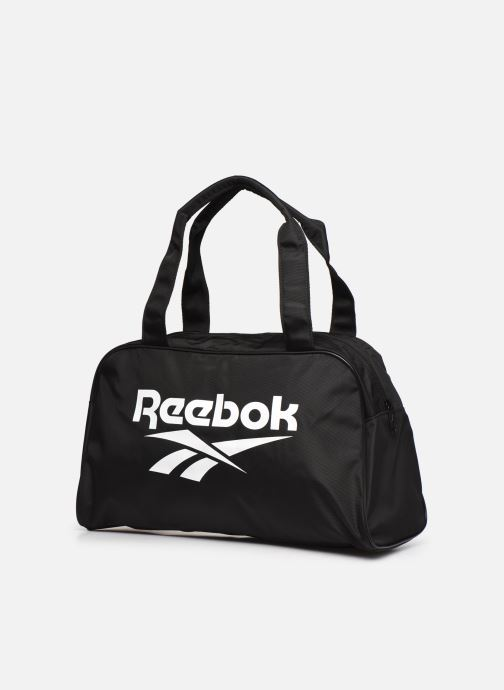 Sporttaschen Reebok CL FO Duffle schwarz schuhe getragen