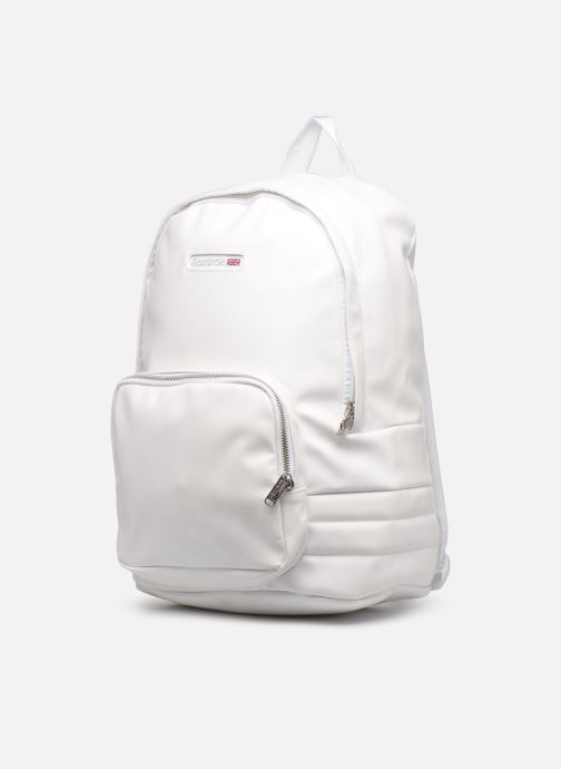 Sacs à dos Reebok CL Freestyle Backpack Blanc vue portées chaussures