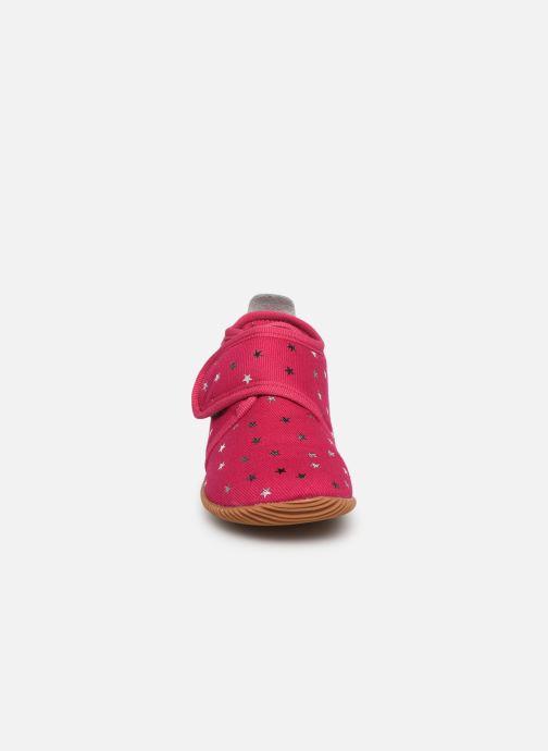 Chaussons Giesswein Salsach Rose vue portées chaussures