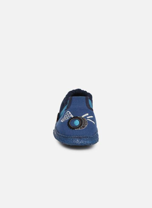 Chaussons Giesswein Abstatt Bleu vue portées chaussures