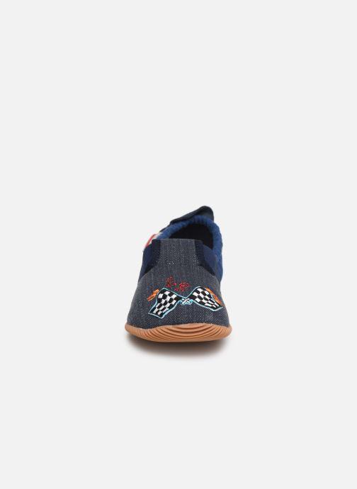 Chaussons Giesswein Schutz Gris vue portées chaussures