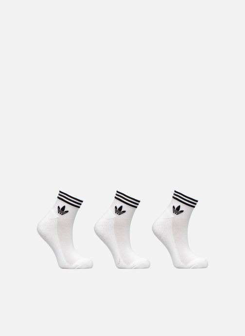 Socks & tights adidas originals TREFOIL ANK STR 3P White detailed view/ Pair view
