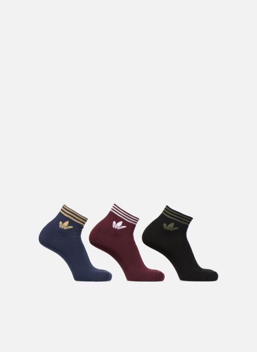 Socks & tights Adidas Originals TREFOIL ANK STR 3P Blue detailed view/ Pair view