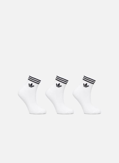 Chaussettes et collants adidas originals TREFOIL ANK STR 3P Blanc vue détail/paire