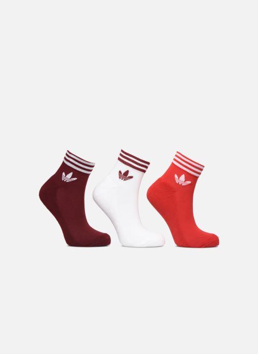 Socks & tights adidas originals TREFOIL ANK STR 3P Burgundy detailed view/ Pair view