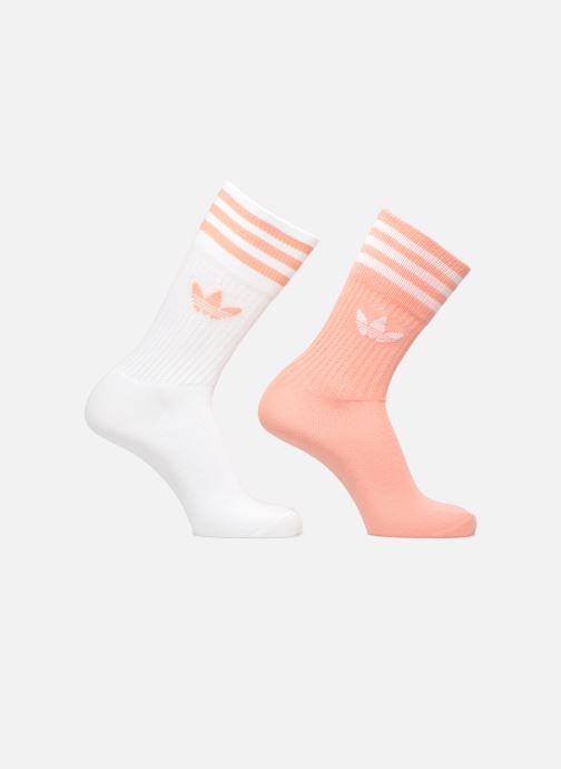 Medias y Calcetines Adidas Originals SOLID CREW 2PP Rosa vista de detalle / par