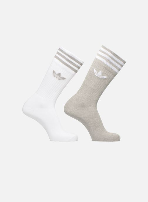 Chaussettes et collants Adidas Originals SOLID CREW 2PP Gris vue détail/paire
