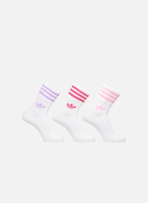 Chaussettes et collants Adidas Originals MID CUT SOLID CREW SOCKS 3PP Blanc vue détail/paire