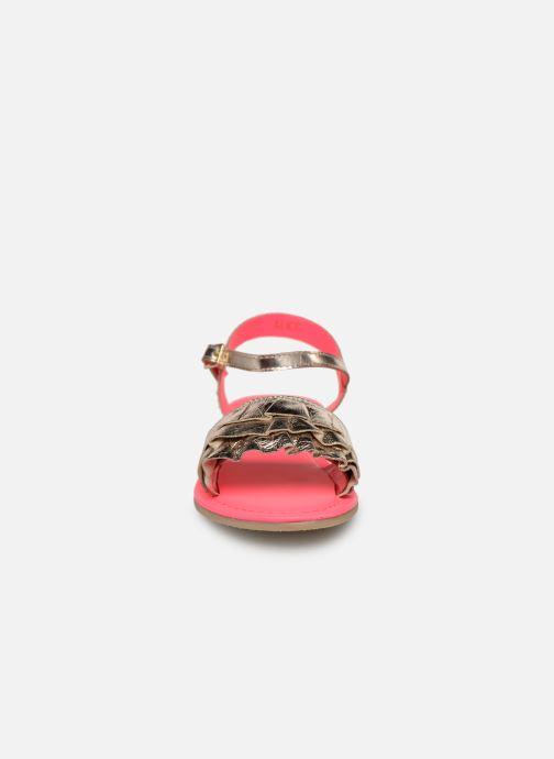Sandales et nu-pieds Billieblush ALICE Or et bronze vue portées chaussures