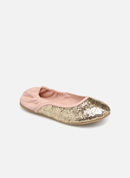 Ballerinaer Billieblush OPERA Guld og bronze detaljeret billede af skoene