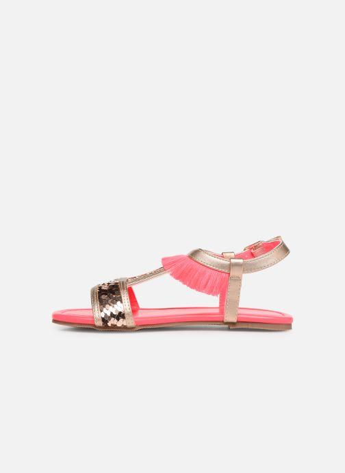 Sandales et nu-pieds Billieblush 5 ETOILES Or et bronze vue face