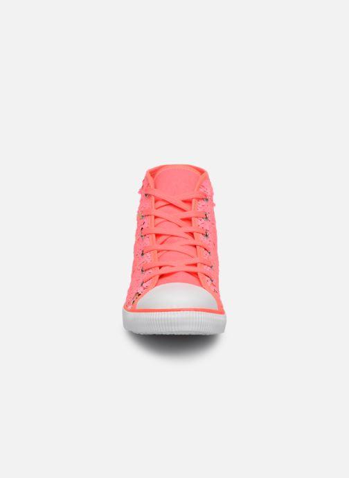 Baskets Billieblush PUNKY Rose vue portées chaussures