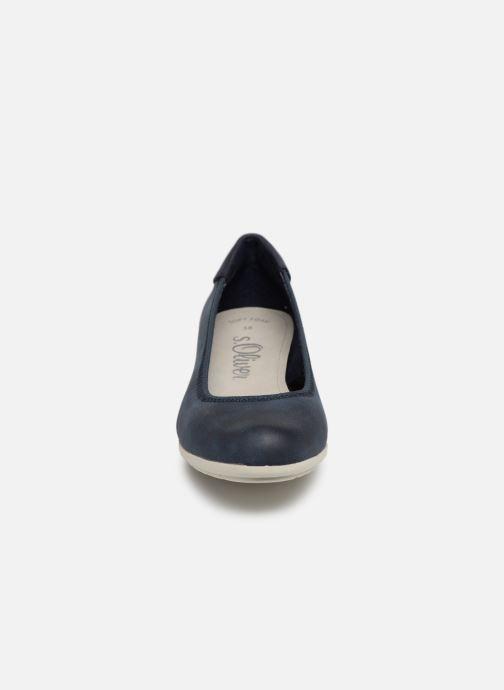 Ballerines S.Oliver Zoia Bleu vue portées chaussures