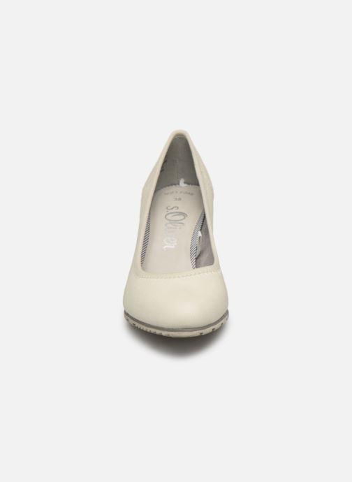 Escarpins S.Oliver Lillya Blanc vue portées chaussures