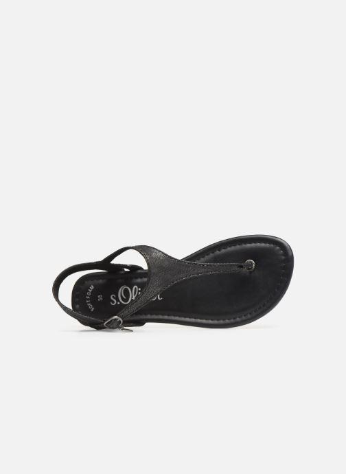 Sandales et nu-pieds S.Oliver Aylin Noir vue gauche