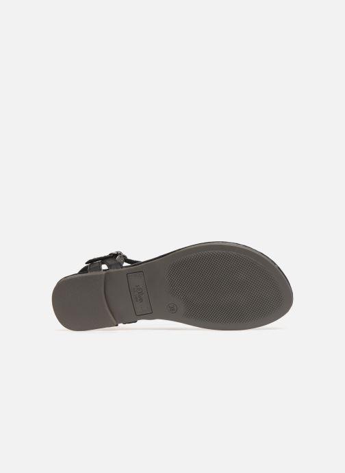 Sandales et nu-pieds S.Oliver Aylin Noir vue haut