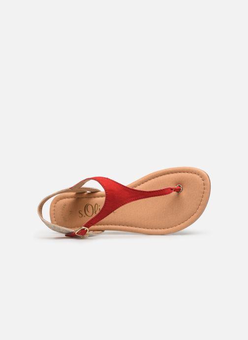 Sandales et nu-pieds S.Oliver Rita Rouge vue gauche