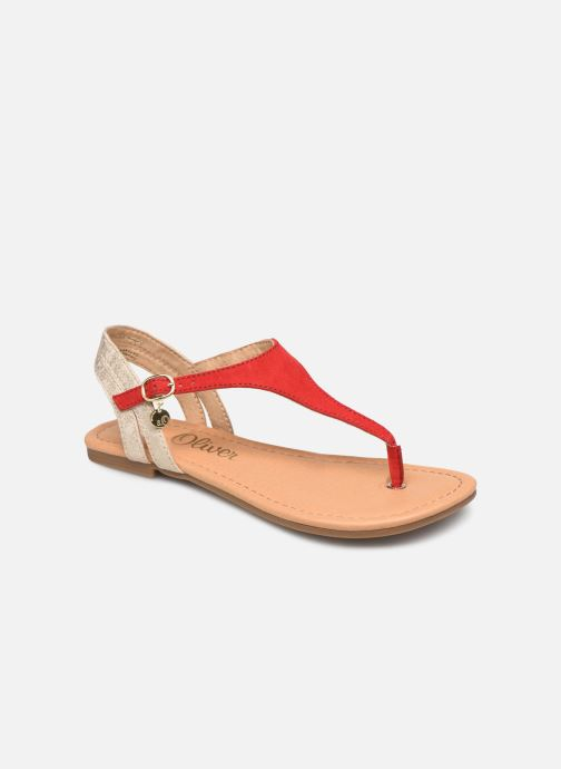 Sandals S.Oliver Rita Red detailed view/ Pair view