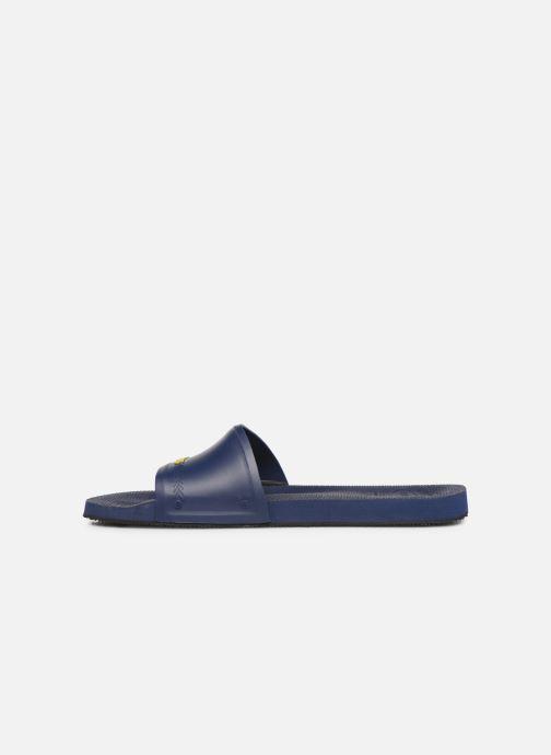 Sandalen Havaianas Slide Brasil blau ansicht von vorne