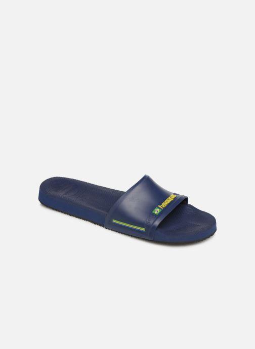 Sandales et nu-pieds Havaianas Slide Brasil Bleu vue détail/paire