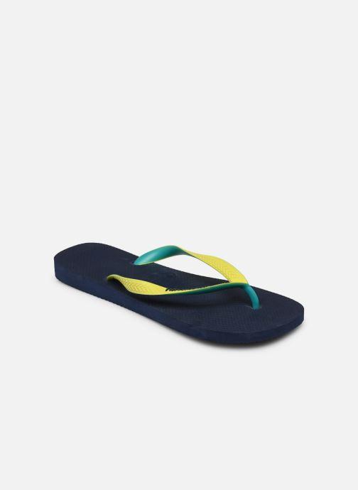Tongs Havaianas Top Mix H Bleu vue portées chaussures