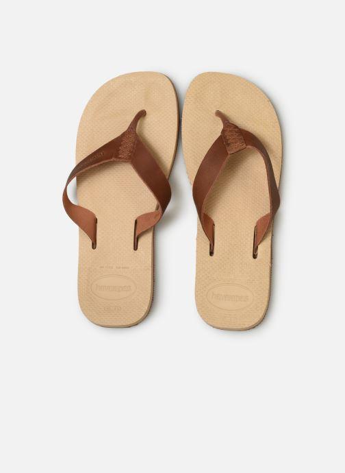 Tongs Havaianas Urban Special Beige vue portées chaussures